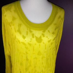 Lovely Vintage Fall 2013 Ochre Burn Out Sweater